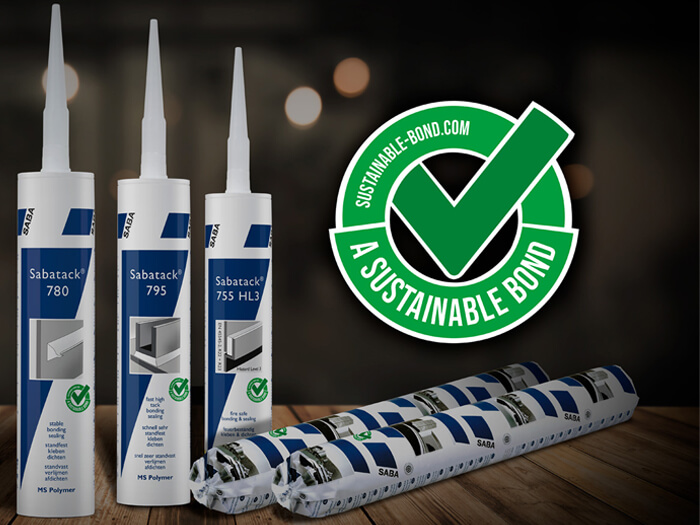 PRESS RELEASE - SABA launches adhesive and sealant range with no hazard symbols