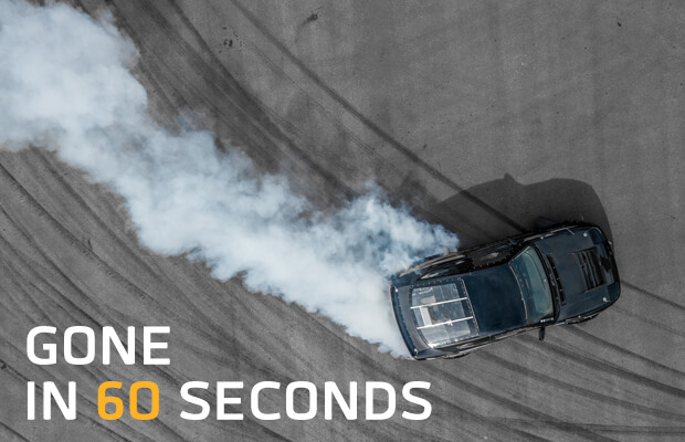 Gone in 60 seconds adhesive