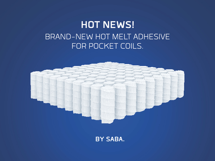 PRESS RELEASE - SABA introduces new pocket coil hot melt adhesive